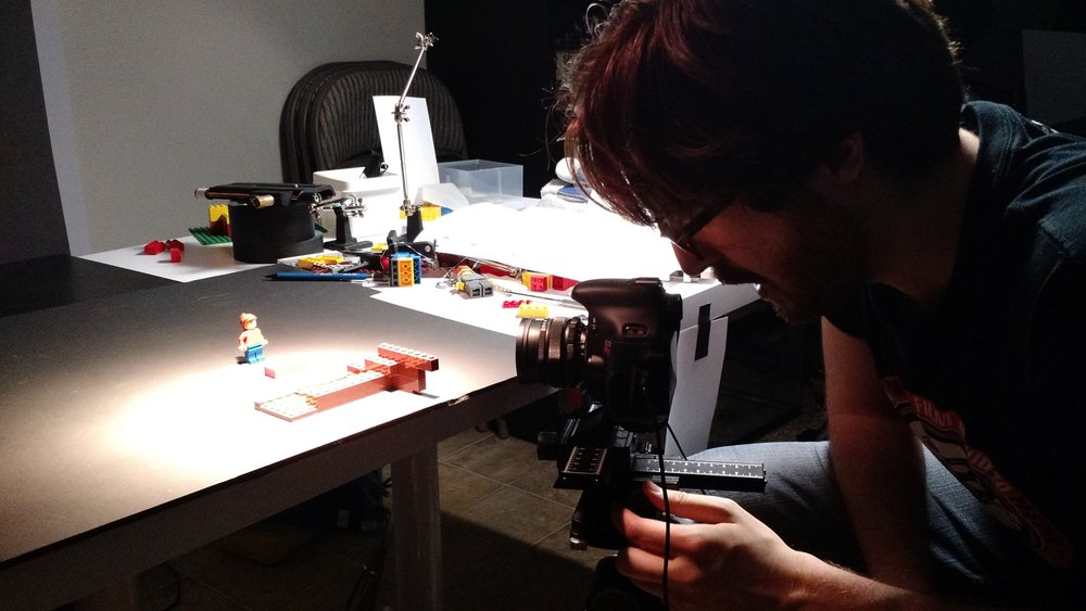 Philip animates the LEGo tape recorder assembling itself