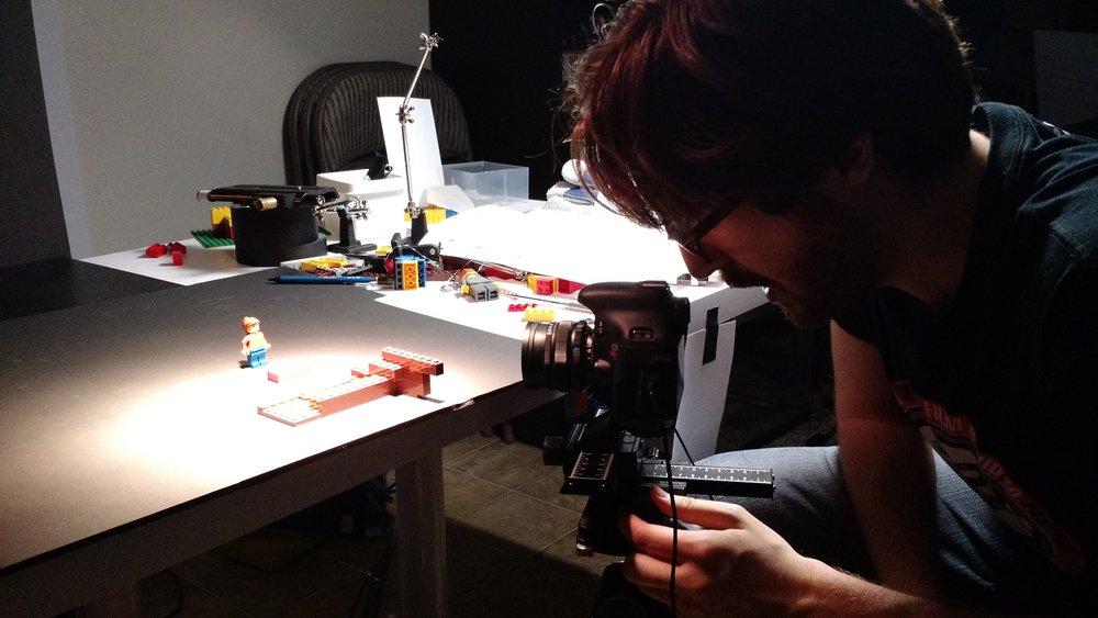 Philip animates the LEGo tape recorder assembling itself