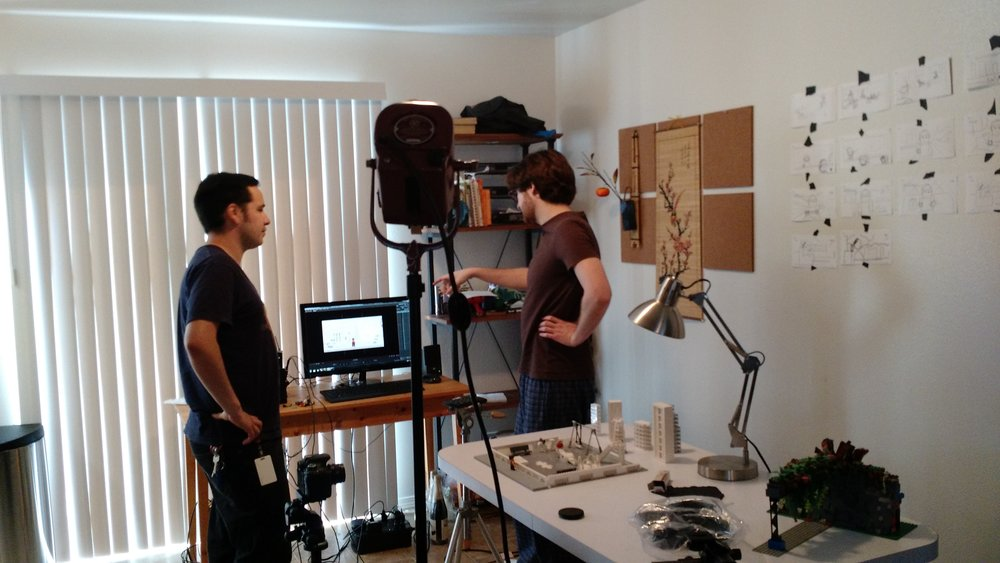 Zach and Philip plan the first shoot