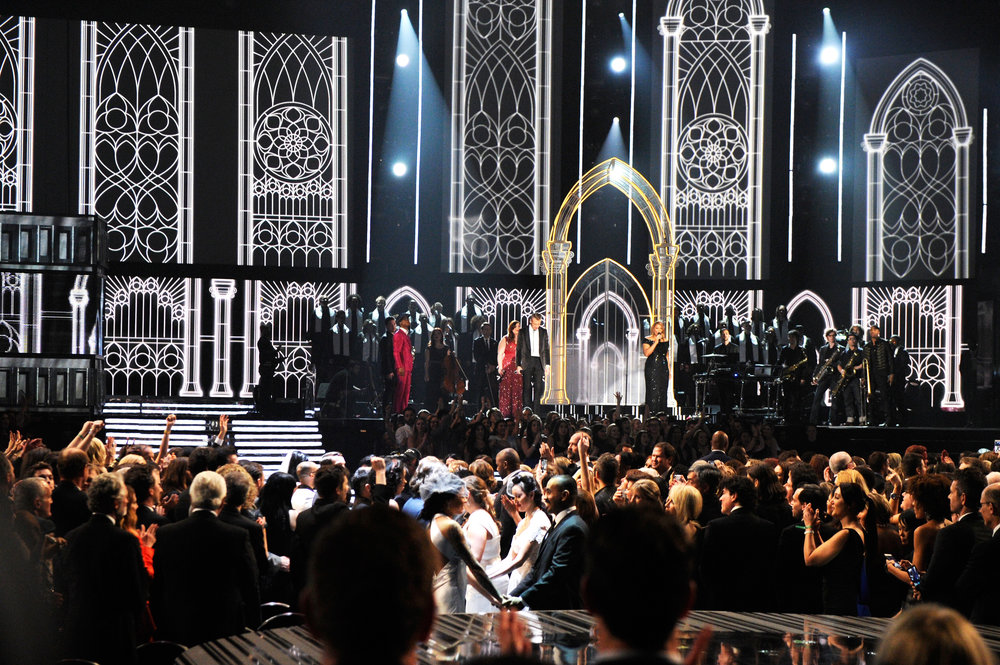 56TH GRAMMYS - MACKLEMORE / MADONNA