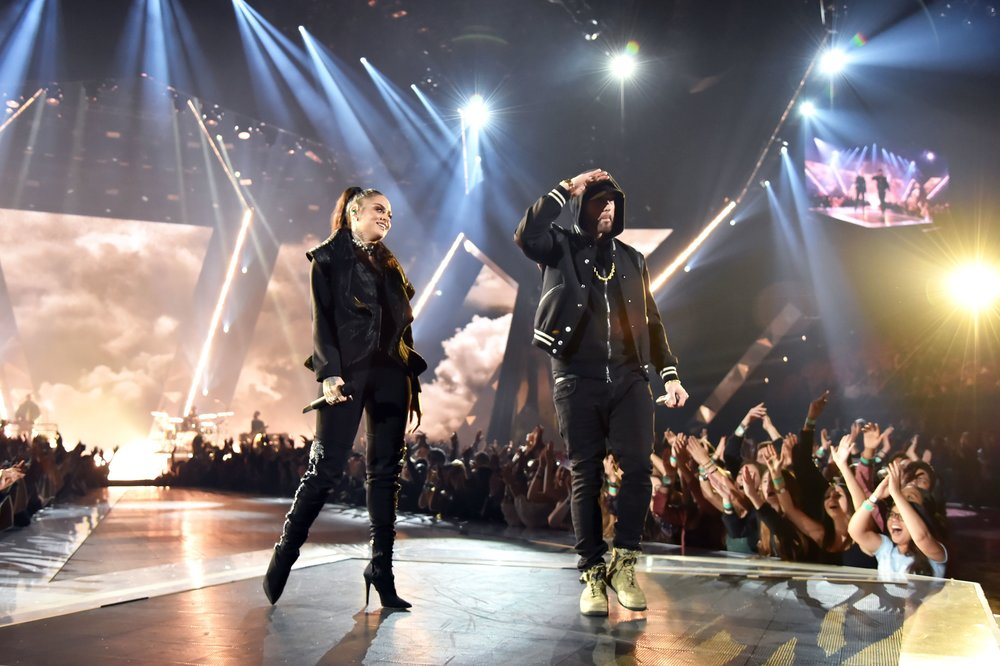 EMINEM - IHEART RADIO MUSIC AWARDS WITH KEHLANI