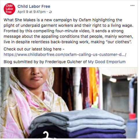 Child Labor Free blog