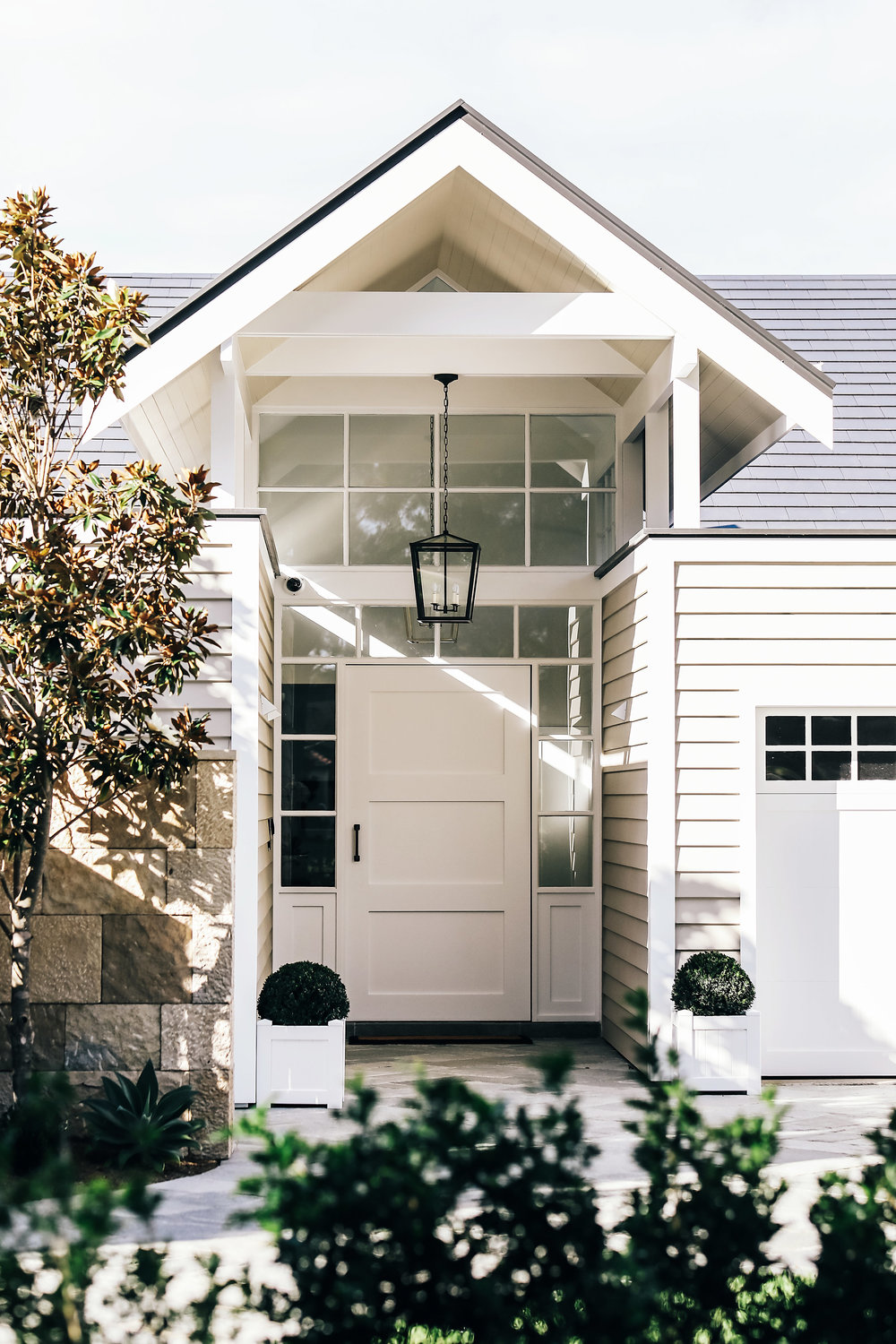 Hamptons Style Entrance Of Luxury Home In Sydney After A Full Renovation
