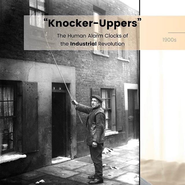 """""""Aknocker-upper was a profession in Britain and Ireland that started during the Industrial Revolution, when alarm clocks were neither cheap nor reliable, and to as late as the beginning of the 1950s."""" Who do you want to knock you up? 😏 #influencerswanted #morning #alarm #history"""
