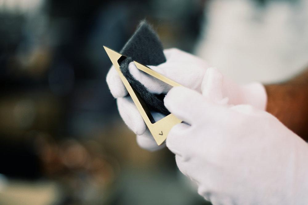 5. Hand polishing -