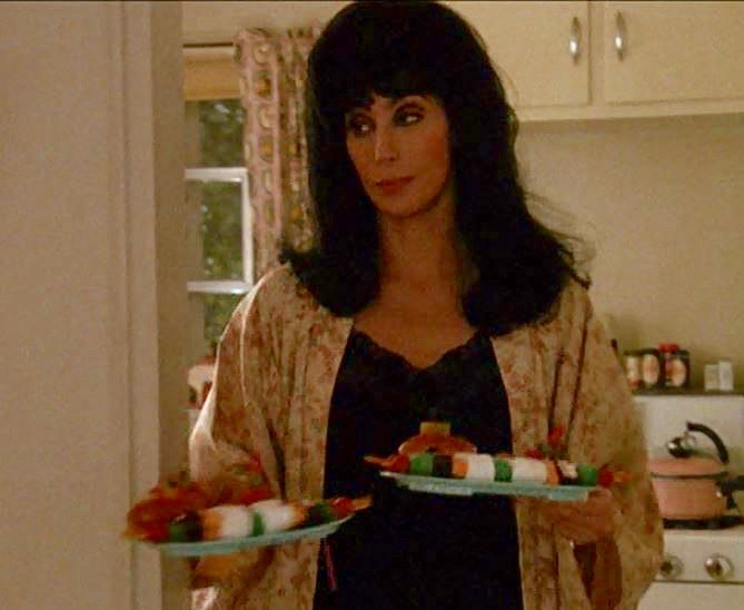 Mrs Flax and her fruit and marshmallow kebab sticks.