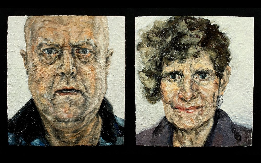 Ian Bruce,  Double Portrait , hand-painted animation
