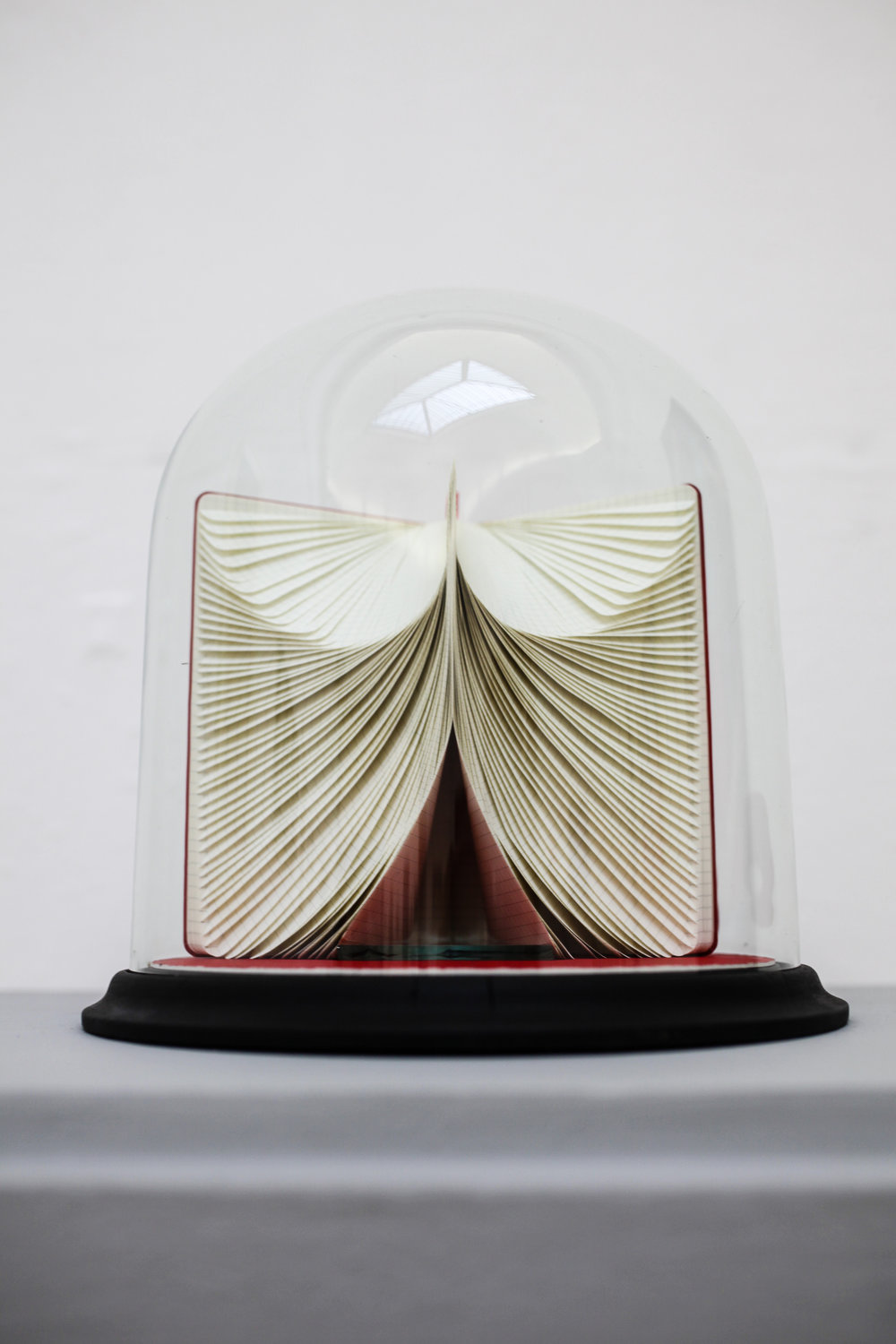 Toni Davey,  Pleasure Dome,  glass dome, A5 Moleskine sketch book, glass wedge