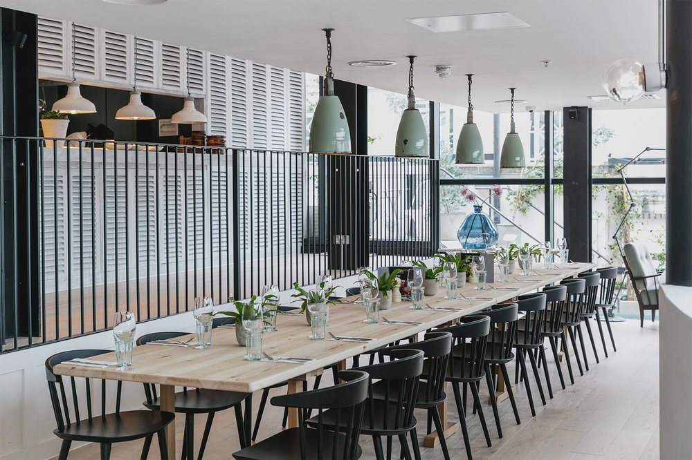 Mezzanine - Dining for up to 24 guests and drinks for up to 40