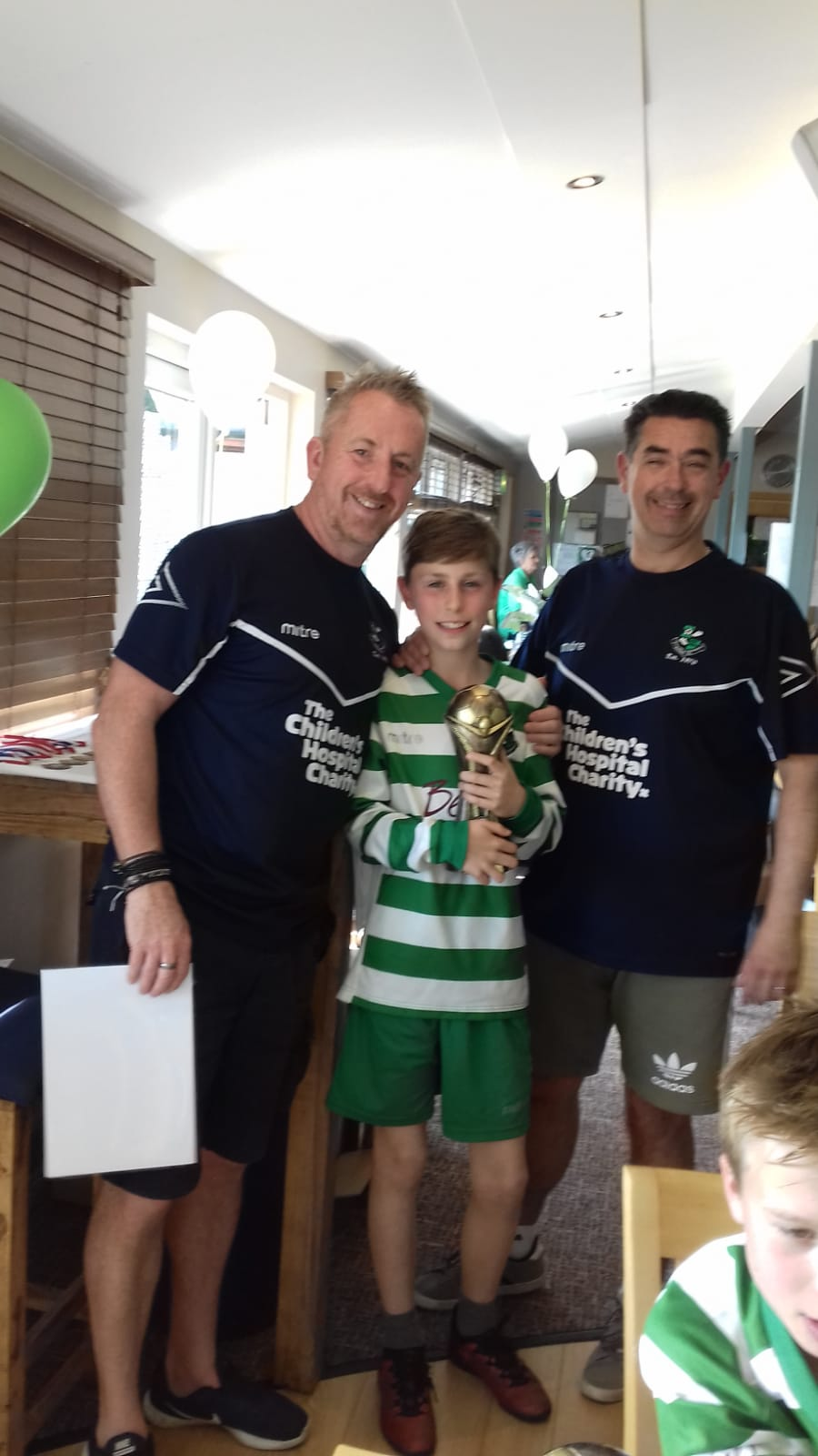 'Player's Player' winner Billy with Managers Mark Woodcock and Kevin Boltruszko
