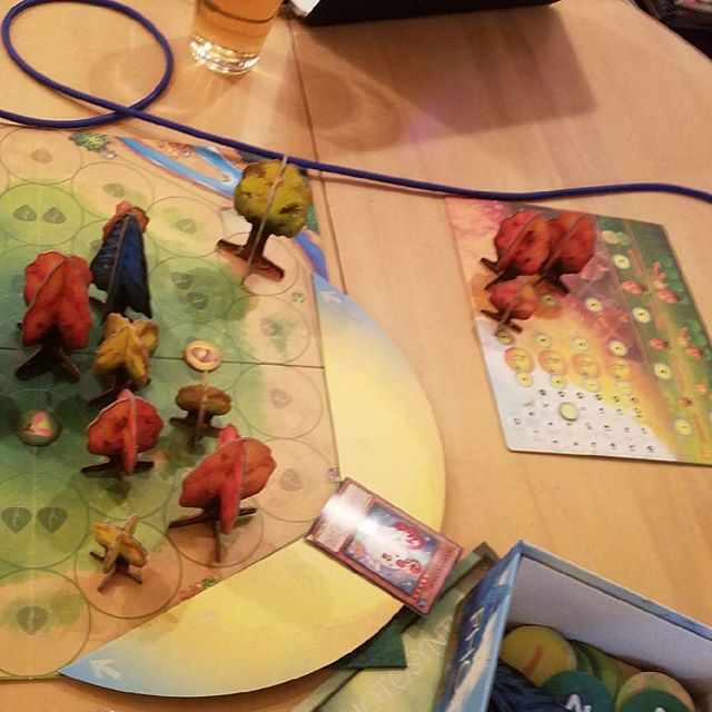 Another night, another #gameotheweekpodcast! We played the #blueorange tree growing game, Photosynthesis this week! New episode should be dropping tomorrow night! Give us a listen and let us know what games you think we should play next! #boardgames #cardgames #tabletopgames #gameotheweek #tabletop #photsynthesis
