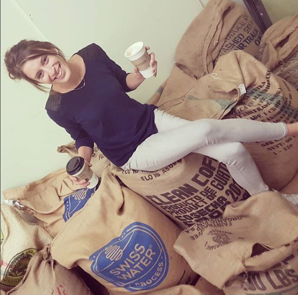 "Meagan Dier of Indie Coffee.  Photo taken from the best Insta-post ever: ""My idea of a balanced diet is a coffee in each hand"" Preach girl."