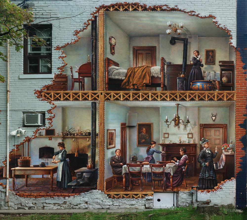 Mural by John Kuna in the Islington BIA in Etobicoke.
