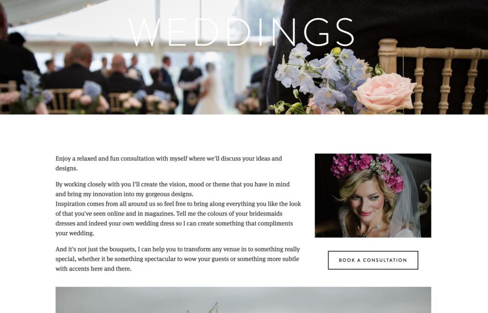 Site Owl: Caroline Holmes website