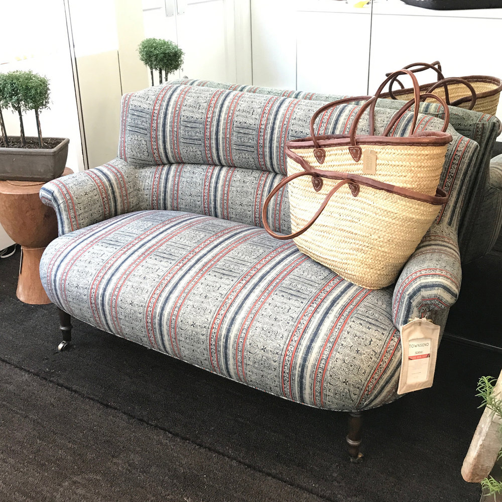 Townsend Upholstered Loveseat  - $2,850 |   GREAT FOR:   An entryway or small NYC apartment