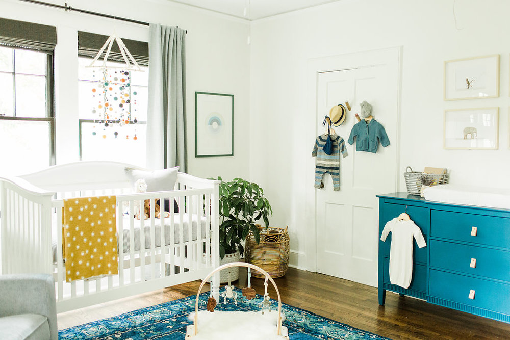classic modern boy's nursery