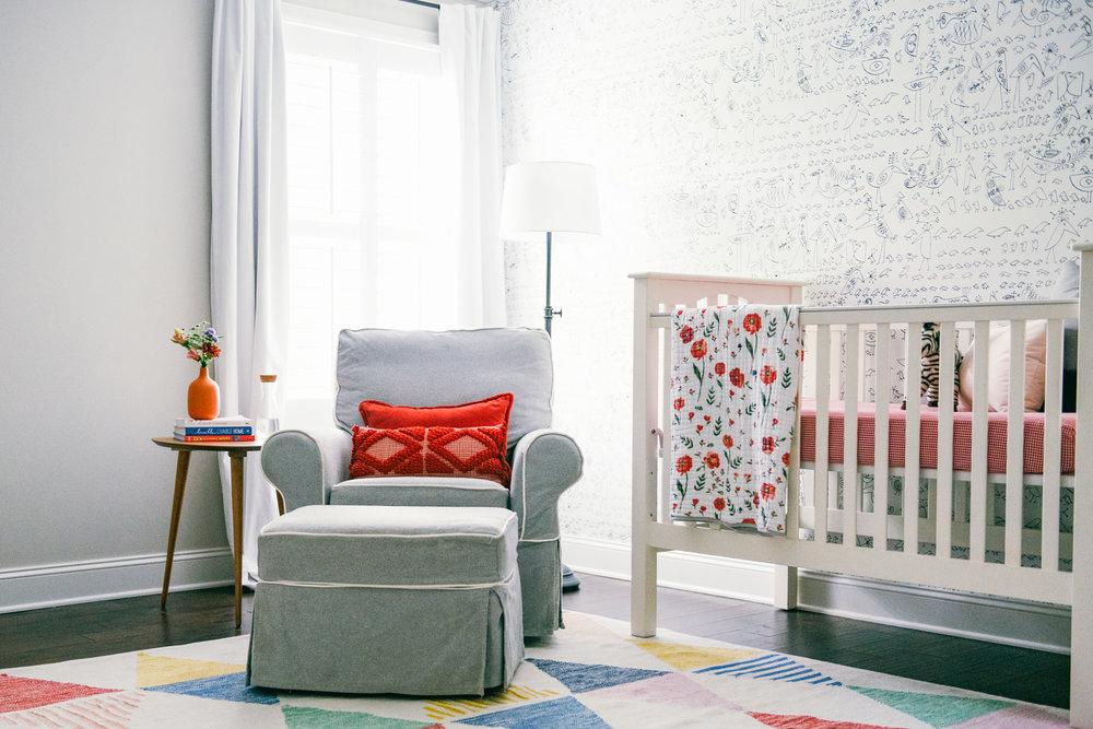 modern girl's nursery