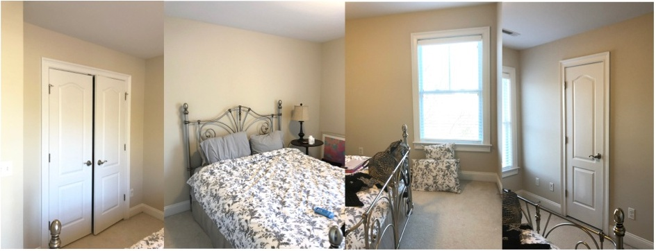 Before: basic beige walls are getting a makeover