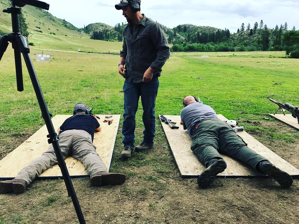AFF Patriots Shooting Team at Bull Hill Training Ranch in Washington State.