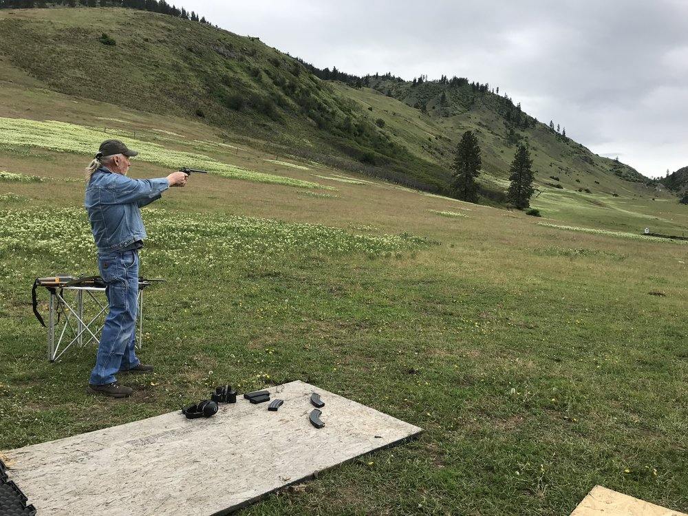 AFF Patriots Shooting Team Member Cliff Cahoun takes a shot at Bull Hill Training Ranch in Washington State.