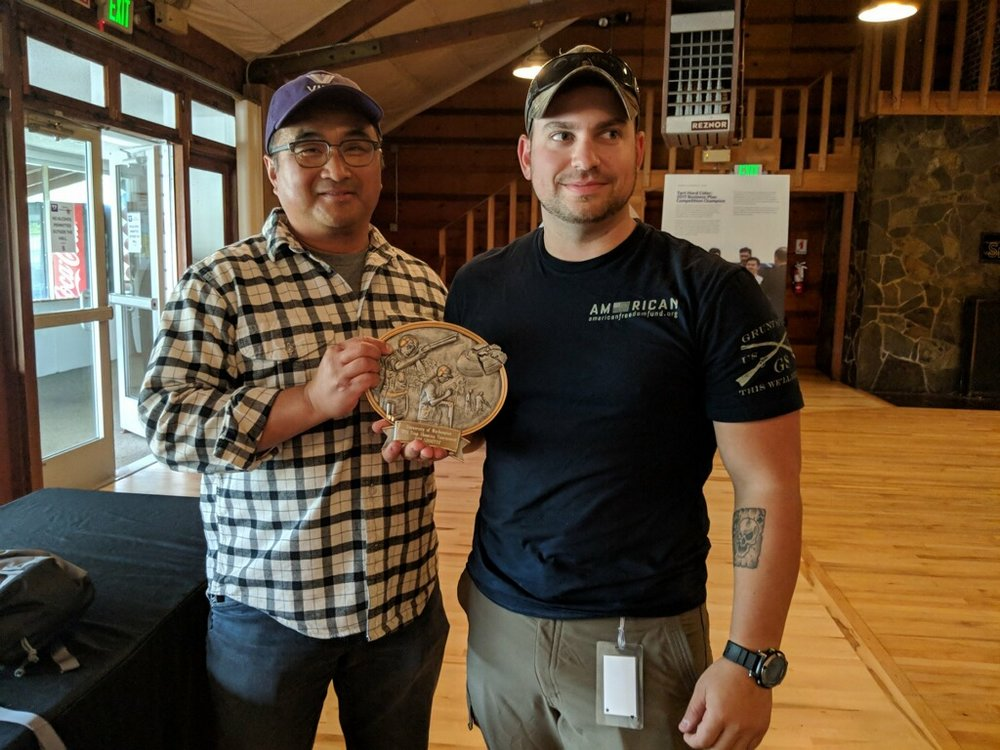 AFF Patriots Shooting Team Member Adrian Leatherman takes 1st Place at the University of Washington's Veterans Incubator for Better Entrepreneurship Inaugural Trap Shooting event 20 September, 2018.