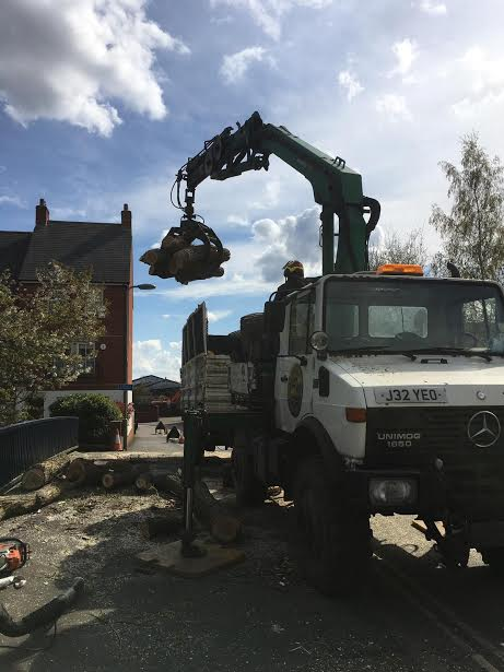 Unimog in action.