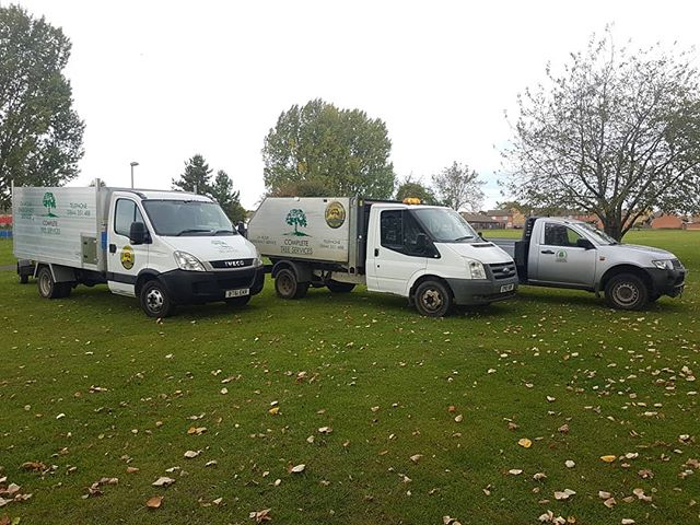 Nice little line up to get the job done #completetreeservice #arblife #tippers  #iveco #transit #mitsubushi #fillemup #getclimbing
