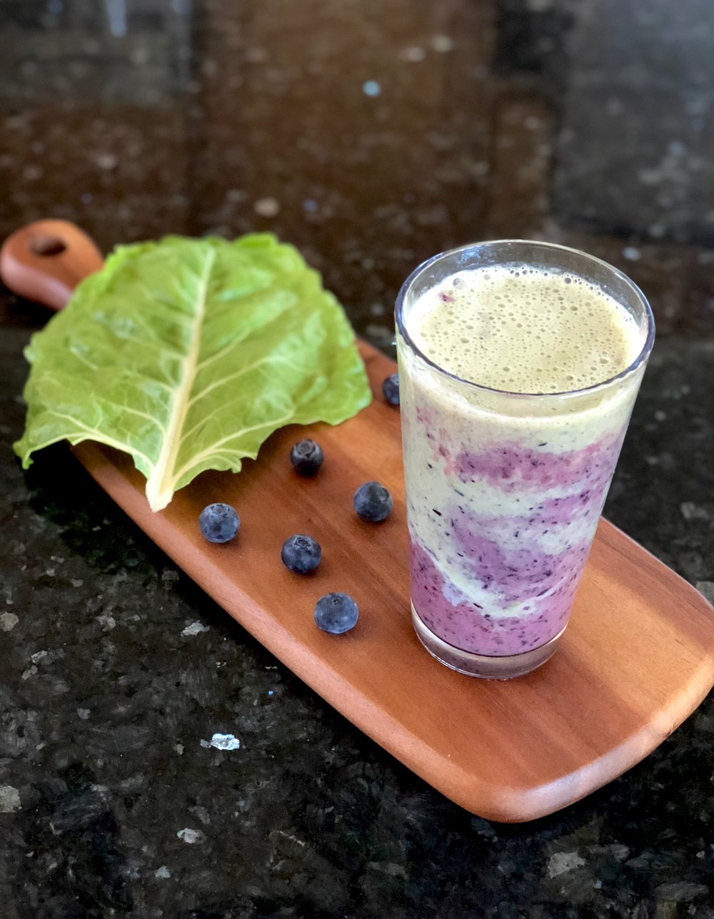Blueberry Swiss Chard Simply Fresh Smoothie