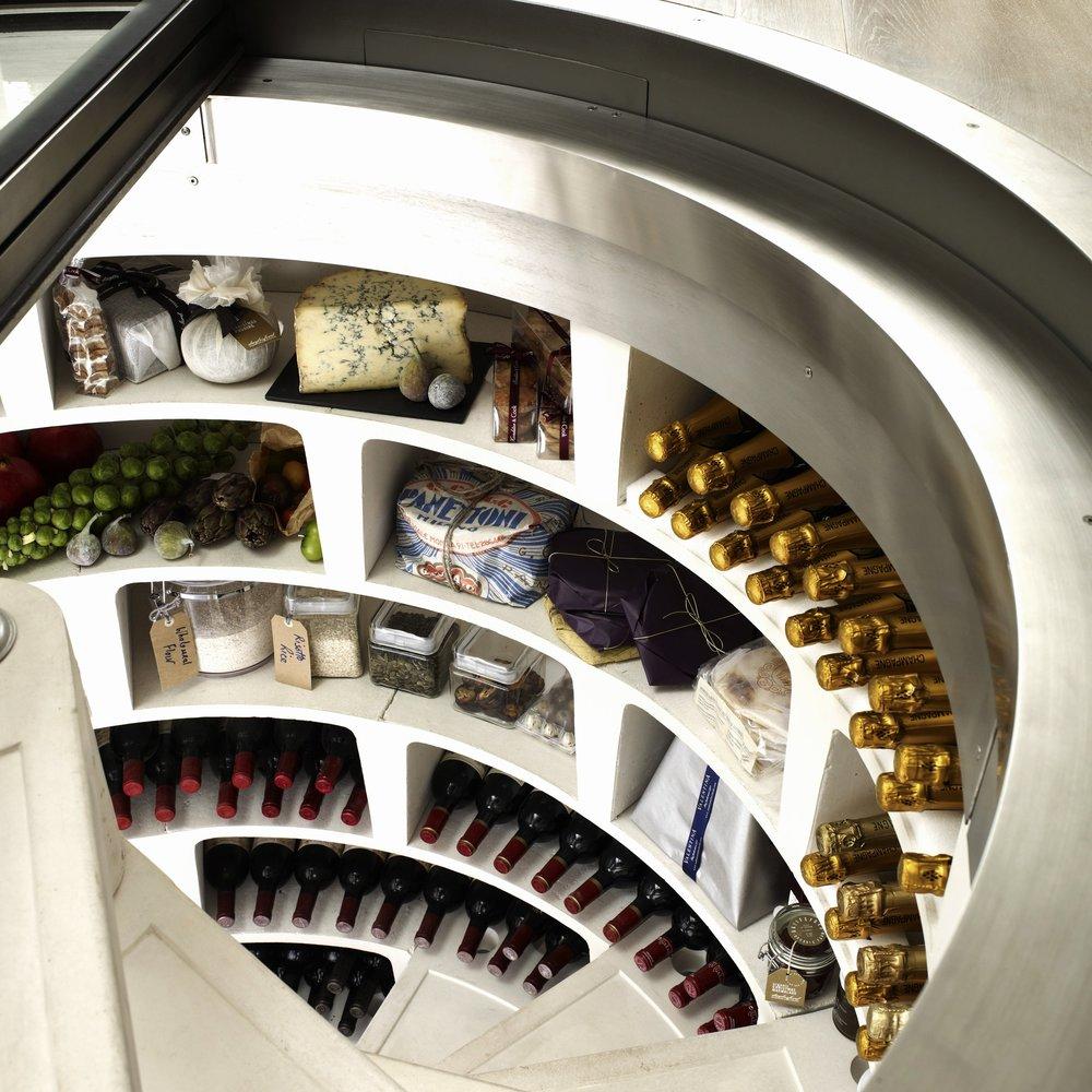Christmas larder - White Spiral Cellar with retractable round glass door (6).jpg