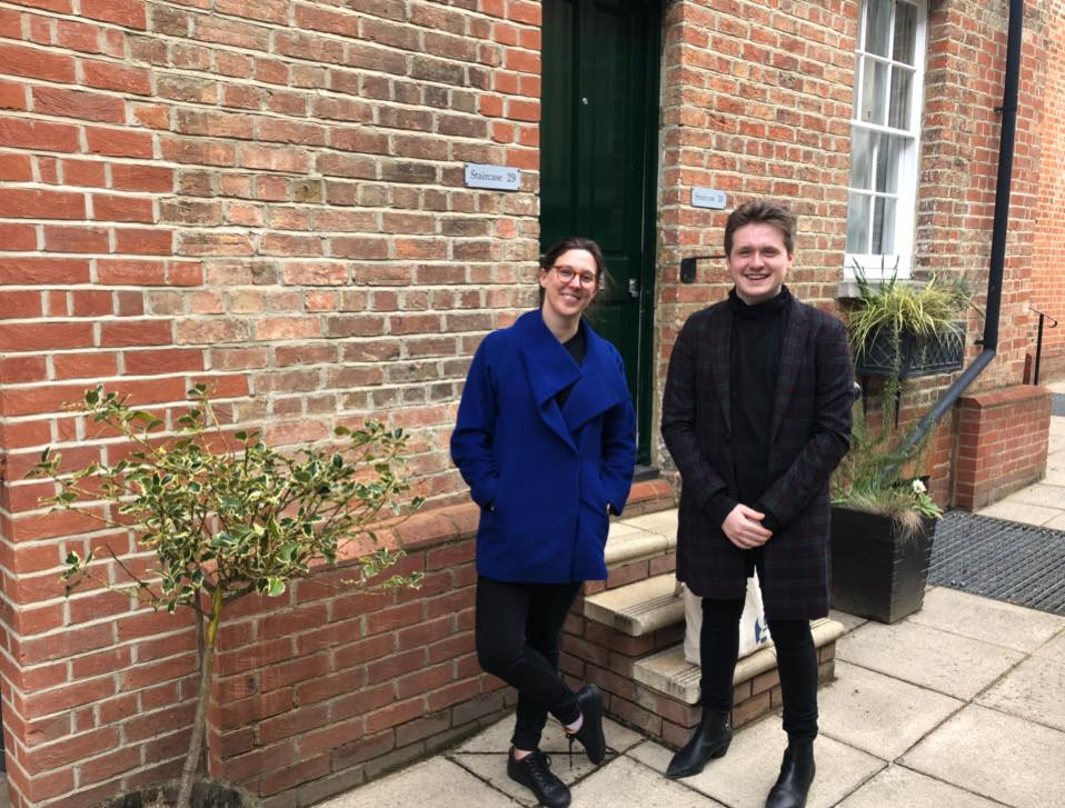Zoe and Lee take the trip down from London to inspect the accommodation and make arrangements with our tutors