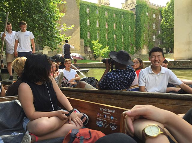 We took a trip to the beautiful city of Cambridge today, where our students explored colleges, went punting, climbed up Great St. Mary's church tower and enjoyed the beautiful gardens of Selwyn College! . . . . . . . . . . . . . . . . . . #oxfordsummer #oxbridgesummer #oxforduniversity #summercamp #cambridge #selwyn #academic #summerschool