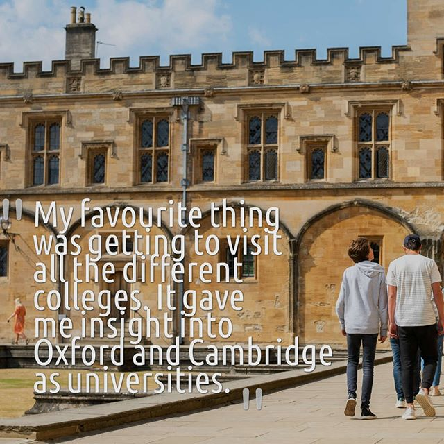 Here's what one of our students had to say about their summer school experience 🤗 . In addition to delving into their subjects further at the summer school, the students also get to delve into the picturesque city of Oxford! 🌇 . Students visit college halls, cloisters and chapels at, among others, Magdalen, Merton and Christ Church Colleges, including the all-important visits to sites where Harry Potter was filmed! 🎥 . Many of our previous students especially loved exploring the Covered Market at lunchtime, as well as the countless museums and galleries, and the renowned Debating Chamber at the Oxford Union, amongst many other things to do. . Applications are still open for the summer school, check out the link in our bio for more info! ☀️📚 . . . #oxfordsummer #cambridge summer #summersun #summercamp #summerschool #summerschoolfun #summerschool2018 #college #tours #oxford #cambridge