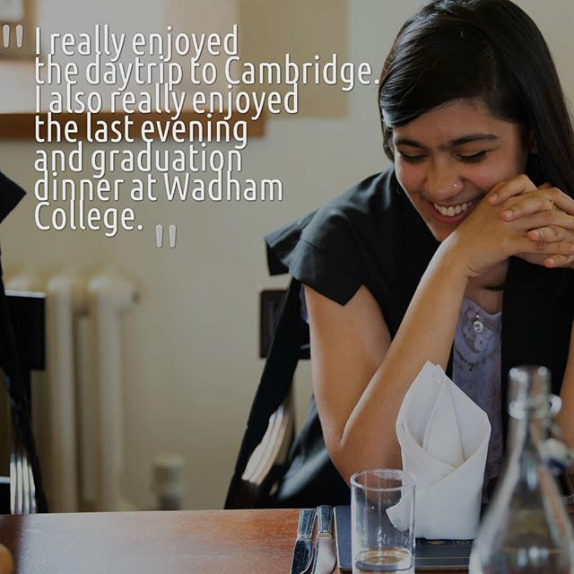 Here's what one of our students had to say about the summer school! . The day trip to Cambridge is often amongst the students' favourite activities during the summer school. We travel together by coach and explore the beautiful city of Cambridge and enjoy a private tour led by Cambridge students! . To end the programme, we celebrate the students' completion in  a very Oxford-esque way with a formal dinner! 🍽🍹 Students can wear their sub-fusc (academic dress) for the full experience! 🎓 . If you'd like to find out more about our summer school programme and how to apply, check out the link in our bio! 🤗 . . . #summerschool #oxford #cambridge #oxbridge #studyabroad #studentravel #summercamp #summerbreak #summereducation #summervacation #studyinbritain #studylaw #studymedicine #studypolitics #studyeconomics #studycoding #studyengineering  #oxfordsummer #cambridgesummer #summersun #summercamp #summerschool #summerschoolfun #summerschool2018 #wadham #graduation