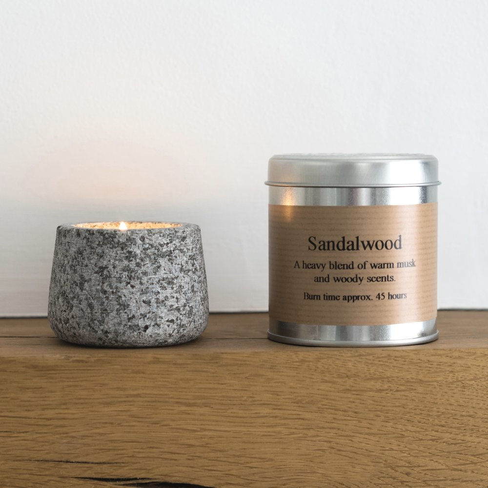 Sandal wood candle