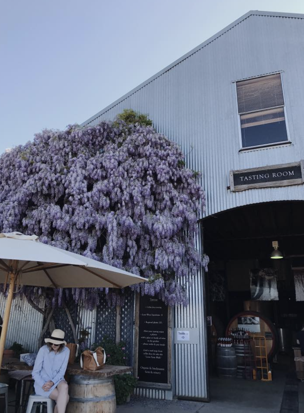 The beautiful exterior of Lowe Wines