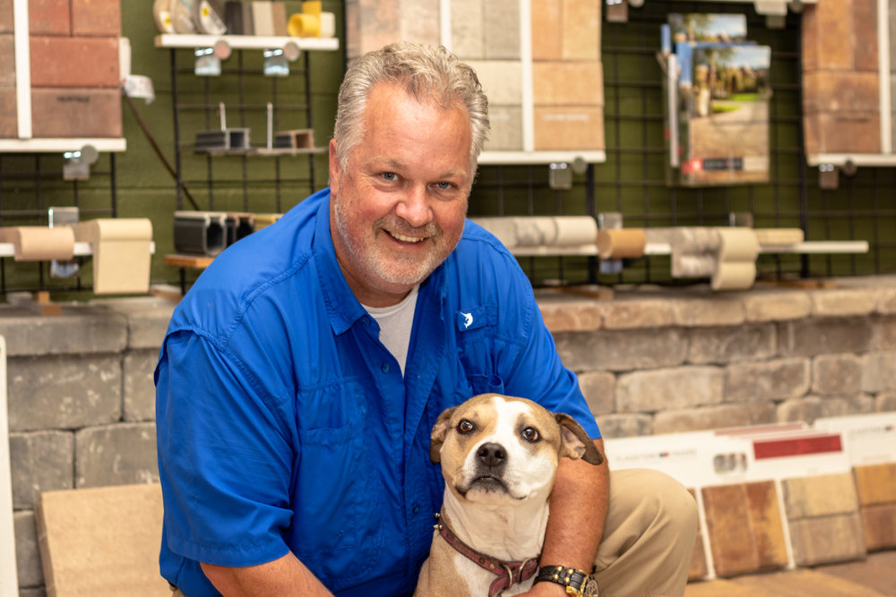 Meet Rick &Snickers (The Paver Pup) - Rick is the proud co-owner of Paver Traders along with his wife Jessie. You'll meet Rick at your estimate appointment while Jessie and Snickers man the office.