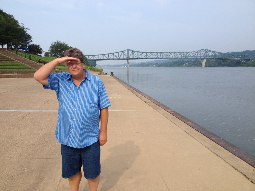 Peter on Ohio River Huntington.jpg