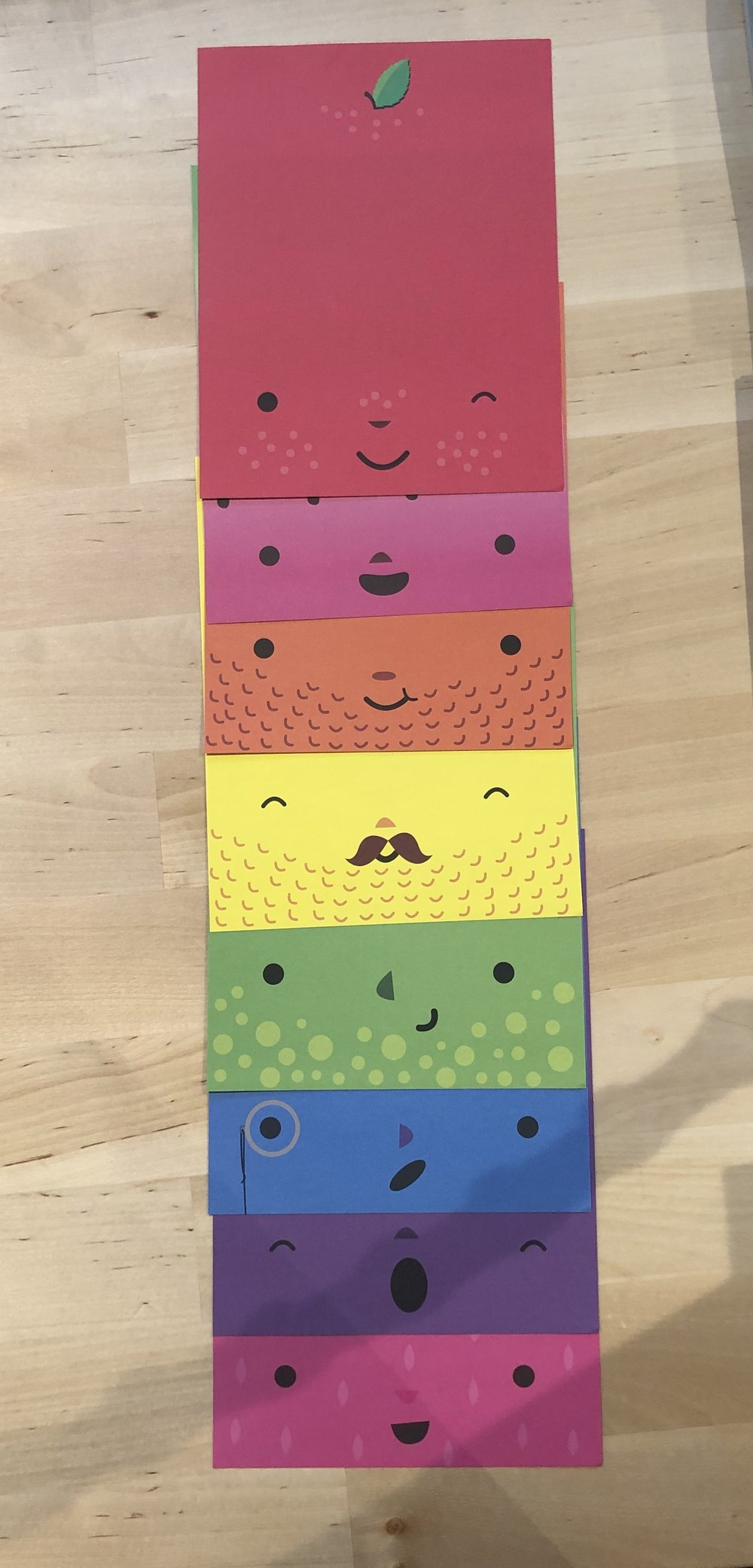 These are the eight fruit pages. Mustaches, monocles, and winks, oh my!