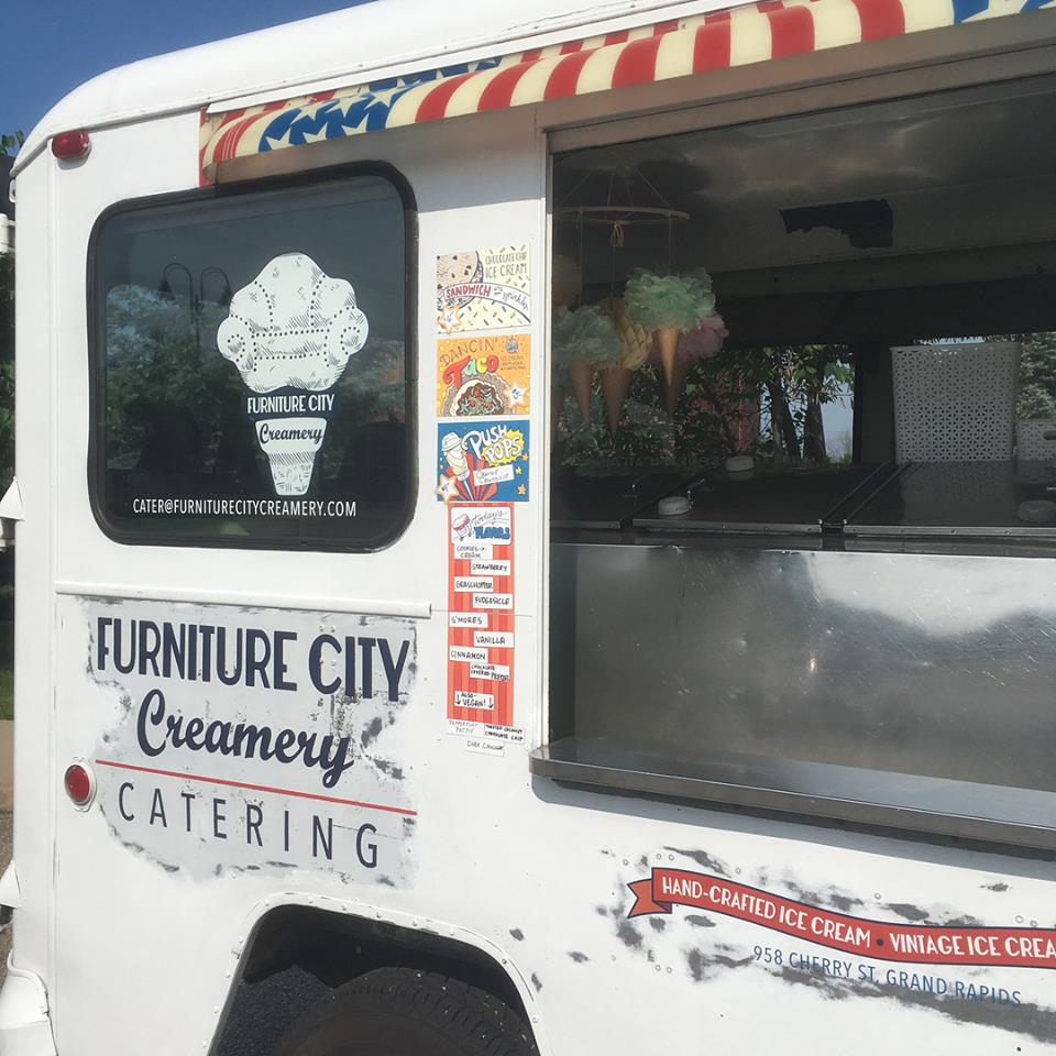 If you happen to be out and about in the greater Grand Rapids area, keep an eye out for the Furniture City Creamery ice cream truck!