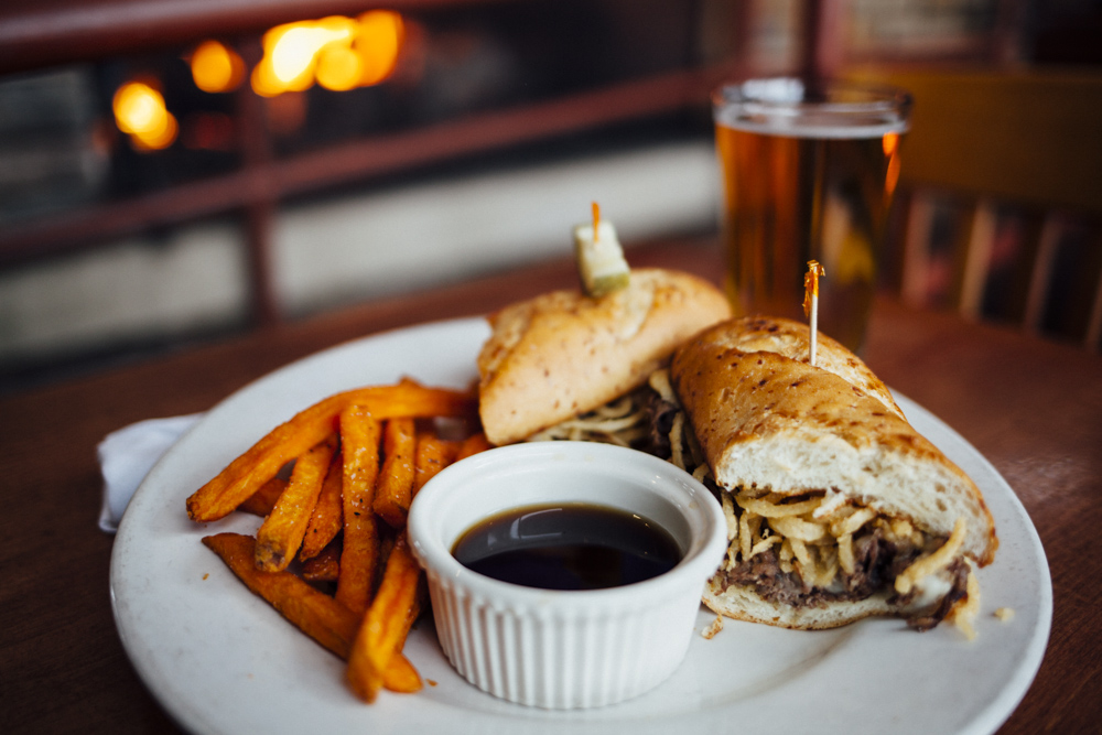 When Blue Water isn't making unique dishes with garden-fresh ingredients, they're perfecting classics like the reuben and French dip sandwiches.