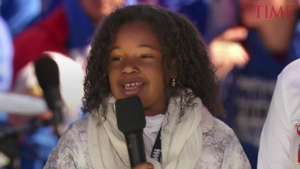 Yolanda Renee King, the 9-year-old granddaughter of Dr. Martin Luther King Jr  .