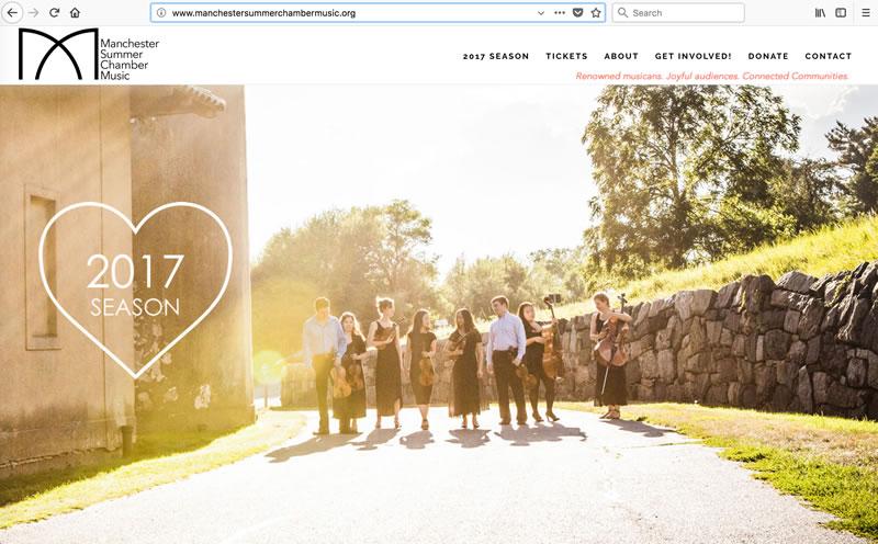 Manchester Summer Chamber Music - Client: Music FestivalPlatform: Wordpress