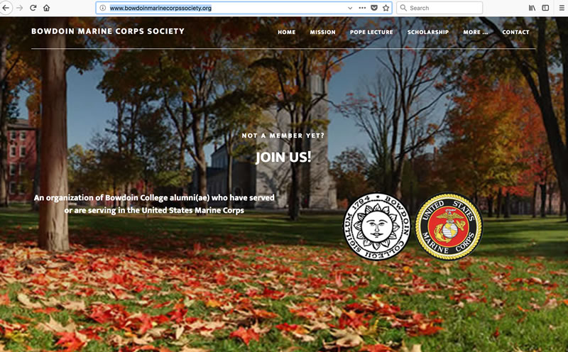 Bowdoin Marine Corps Society - Client: Small organizationPlatform: Wordpress