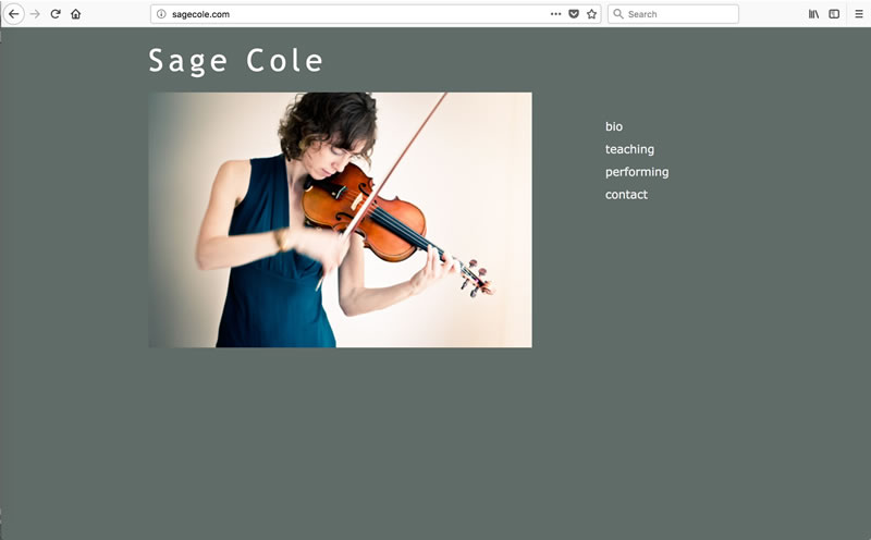 Sage Cole - Client: MusicianMade with Dreamweaver
