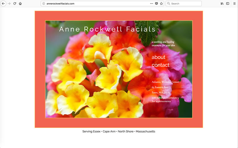 Anne Rockwell Facials - Client: EstheticianMade with Dreamweaver