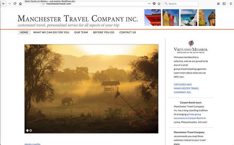 Manchester Travel - Client: Travel AgencyPlatform: Wordpress