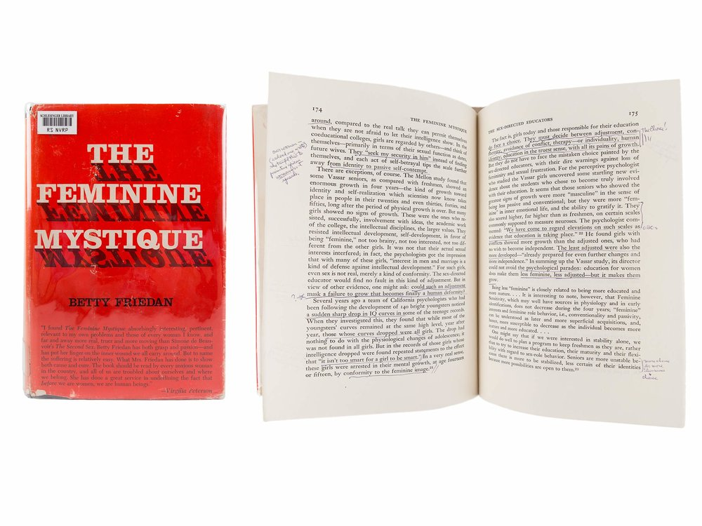 Alice Paul's copy of Betty Friedan's The Feminine Mystique, 1963