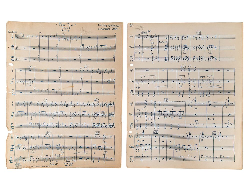 Original score, Tom-Tom, by Shirley Graham Du Bois, 1932