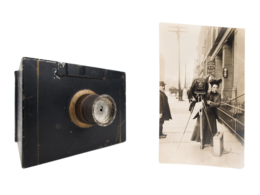 Jessie Tarbox Beals's first camera, 1888
