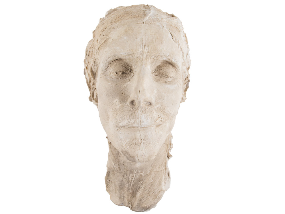 Death mask of Charlotte Perkins Gilman, 1935